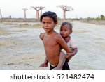 madagascar shy and poor african ... | Shutterstock . vector #521482474