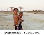 madagascar shy and poor african ... | Shutterstock . vector #521482498