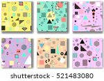 abstract seamless patterns 80'... | Shutterstock .eps vector #521483080