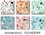 abstract seamless patterns 80'... | Shutterstock .eps vector #521483089