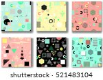 abstract seamless patterns 80'... | Shutterstock .eps vector #521483104