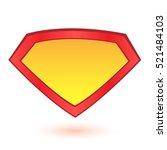 superhero logo template. vector ... | Shutterstock .eps vector #521484103