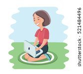 vector cartoon illustration of... | Shutterstock .eps vector #521484496