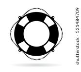 life ring icon vector on white... | Shutterstock .eps vector #521484709