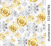gold and silver paper...   Shutterstock .eps vector #521488786