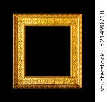 old retro wood ornate frame... | Shutterstock . vector #521490718