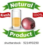 glass of juice  natural product ... | Shutterstock .eps vector #521493250
