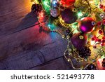christmas and new year... | Shutterstock . vector #521493778