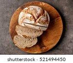 Freshly Baked Bread On Dark...