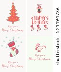 merry christmas and happy new... | Shutterstock .eps vector #521494786