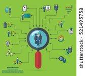 human resources   conceptual...   Shutterstock .eps vector #521495758