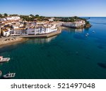 cadaques city aerial view  spain | Shutterstock . vector #521497048