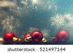 Red Christmas Balls Over...