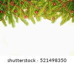 new year background. red balls... | Shutterstock . vector #521498350