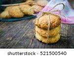 homemade coconut cookies on...   Shutterstock . vector #521500540