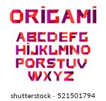 vector colorful alphabet made... | Shutterstock .eps vector #521501794