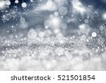 magic blue holiday abstract... | Shutterstock . vector #521501854