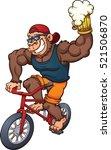 carton gorilla holding a beer... | Shutterstock .eps vector #521506870