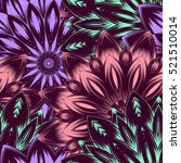 seamless floral background.... | Shutterstock . vector #521510014