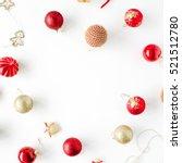 frame made of christmas... | Shutterstock . vector #521512780