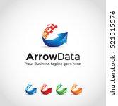 arrow data logo template... | Shutterstock .eps vector #521515576