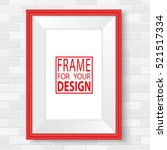 red picture frames. realistic... | Shutterstock .eps vector #521517334