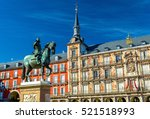 statue of philip iii on plaza... | Shutterstock . vector #521518993