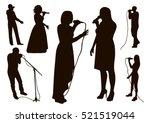black singing people... | Shutterstock .eps vector #521519044
