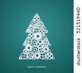 vector modern concept christmas ... | Shutterstock .eps vector #521519440