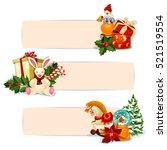 christmas gift banners. present ... | Shutterstock .eps vector #521519554