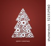 vector modern concept christmas ... | Shutterstock .eps vector #521519560