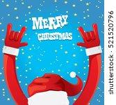 Santa Claus Hand Rock N Roll...