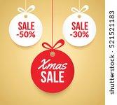 christmas balls sale. special... | Shutterstock .eps vector #521521183