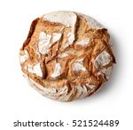 freshly baked bread isolated on ... | Shutterstock . vector #521524489