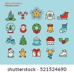 merry christmas retro vintage...   Shutterstock .eps vector #521524690