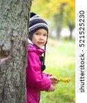 Kid In Autumn Park Hidden...