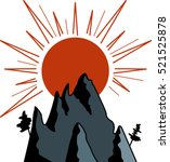 graphic image of sun and... | Shutterstock .eps vector #521525878