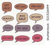 sale  speech bubble. dream... | Shutterstock .eps vector #521526499