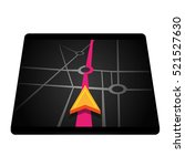 navigation in smartphone or... | Shutterstock .eps vector #521527630