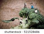 miniature farmers crew... | Shutterstock . vector #521528686