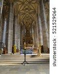 inside an old church | Shutterstock . vector #521529064
