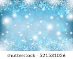 winter background with snow and ... | Shutterstock .eps vector #521531026