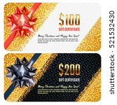luxury design festive gift card ... | Shutterstock .eps vector #521532430