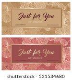 gift premium certificate. gift... | Shutterstock .eps vector #521534680