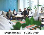 international students resting... | Shutterstock . vector #521539984