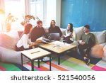 freelance team members working... | Shutterstock . vector #521540056