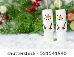 happy funny marshmallow snowman ... | Shutterstock . vector #521541940