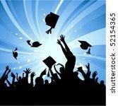 graduation party   Shutterstock .eps vector #52154365