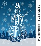 'a very merry christmas'... | Shutterstock .eps vector #521552158