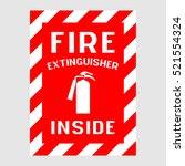"plate  ""fire extinguisher... | Shutterstock .eps vector #521554324"